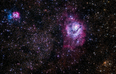 Trifid and Lagoon nebula