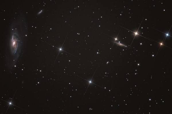 M106, NGC 4217, and neighboring galaxies.