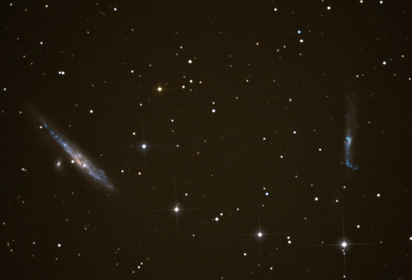 The whale and hockey stick Galaxies