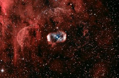 Nebula NGC6164 in Colour Mapped Narrowband.