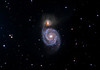 "M51 Whirlpool Galaxy<br /> LRGB  50:25:25:25 mins L bin1 RGB bin2, all 5 min sub exposures<br /> Taken on GRAS G5. Tak Epsilon 250 10"" OTA at f3.4, PME and ST10XME (cropped)."