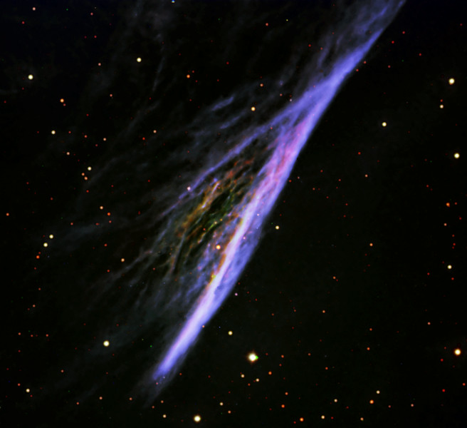 NGC2736 Pencil Nebula in Colour Mapped Narrowband