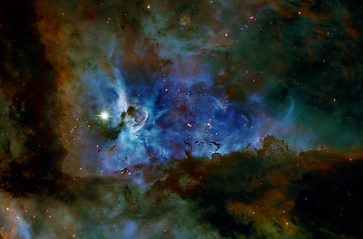 Eta Carina nebula NGC3372 in colour maped Narrowband