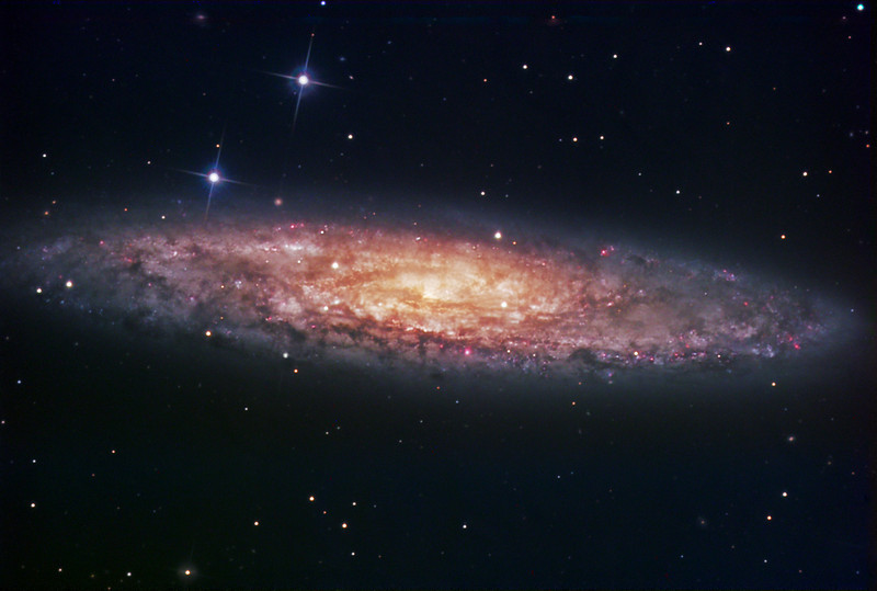 NGC253 Sculptor Galaxy in LRGB<br /> LRGB Lum 7.3 hrs Bin1: RGB 2hrs each Bin2 all 10min subs<br /> Off axis guided with with 2 second exposures