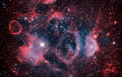 NGC1871 Nebula in colour mapped Narrowband