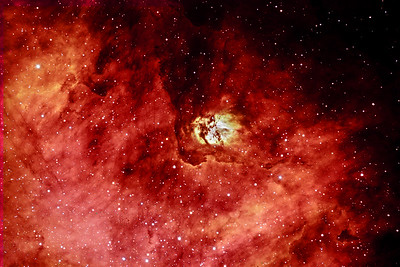 SH2-54 Nebula in Constellation of Serpens