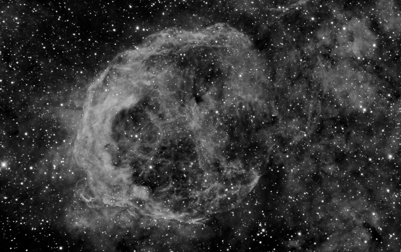 Deep Nebula NGC3199 in Narrow band 3nm Ha