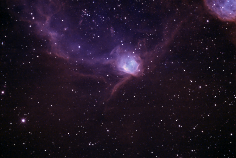 N90 Nebula, NGC602 and N89 in Colour mapped Narrowband