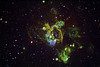 "NGC1935 Nebulae in Colour Mapped Narrowband<br /> Ha:SII:Ha:OIII  60:40:60:40min (10min subs). Ha bin 1. SII and OIII bin 2<br /> Taken on GRAS G15, PME, RCOS 10"" OTA, ST8XME. AP0.67 FR"