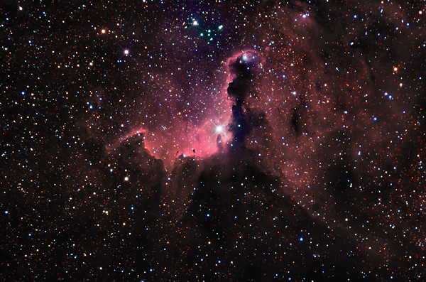 RCW75 Nebula in colour mapped Narrowband