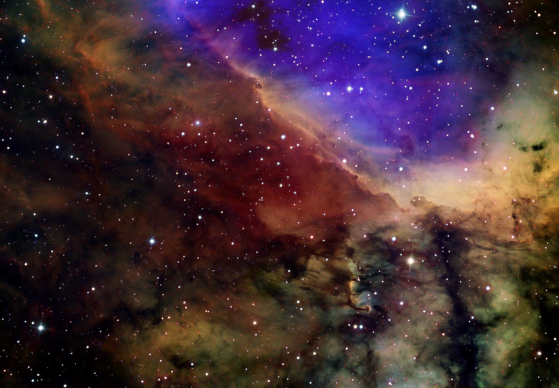 IC4628 Prawn Nebula in Colour Mapped Narrowband