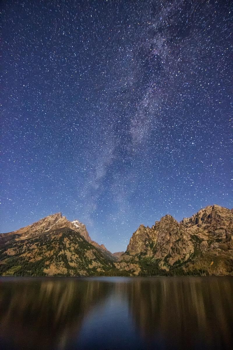 Milky Way over Cascade Canyon in Teton National Park