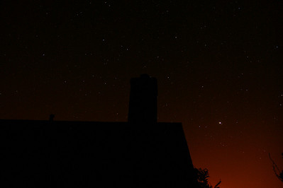 Taken about 2 hours after sunset. I think that bright star in the lower right is actually Venus.