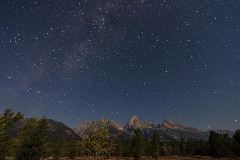 Milky Way over Tetons