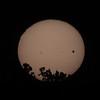 Sun sets as Venus transits