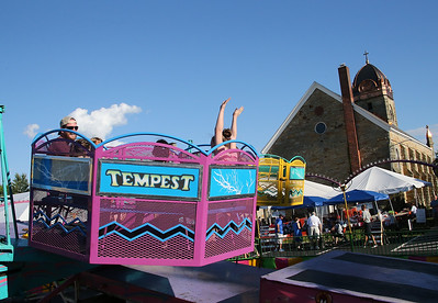Riders take on the Tempest at the Queen of Peace Festival in Grafton. RAY RIEDEL/CHRONICLE