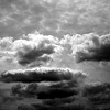 Afternoon Summer clouds in monochrome