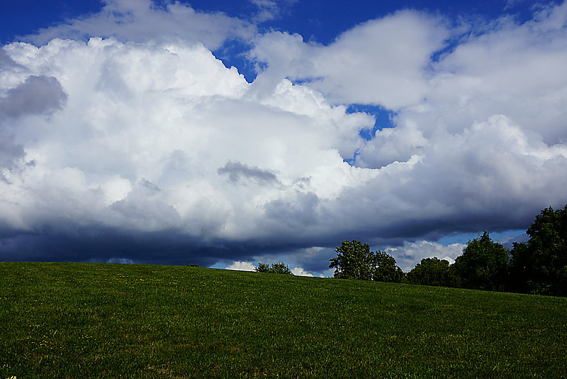 Summer clouds over a hill in Upper Arlington, Ohio.