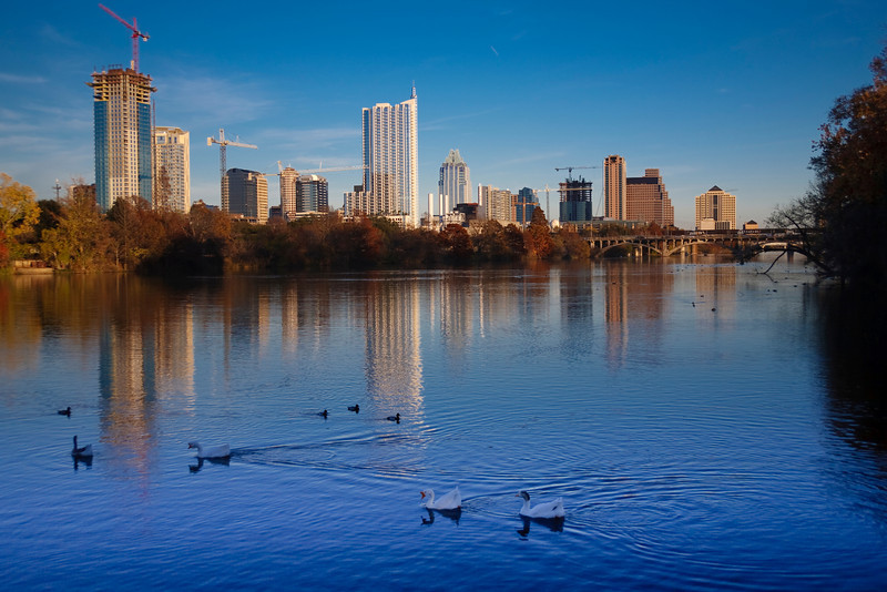 "Austin Skyline and Lady Bird Lake<br /> <br /> Purchase Prints, Framed Prints, Canvas Prints, Metal Prints, and on a Acrylic as well through this link - <br /> <a href=""http://fineartamerica.com/featured/austin-skyline-early-evening-mark-weaver.html?newartwork=true"">http://fineartamerica.com/featured/austin-skyline-early-evening-mark-weaver.html?newartwork=true</a>"
