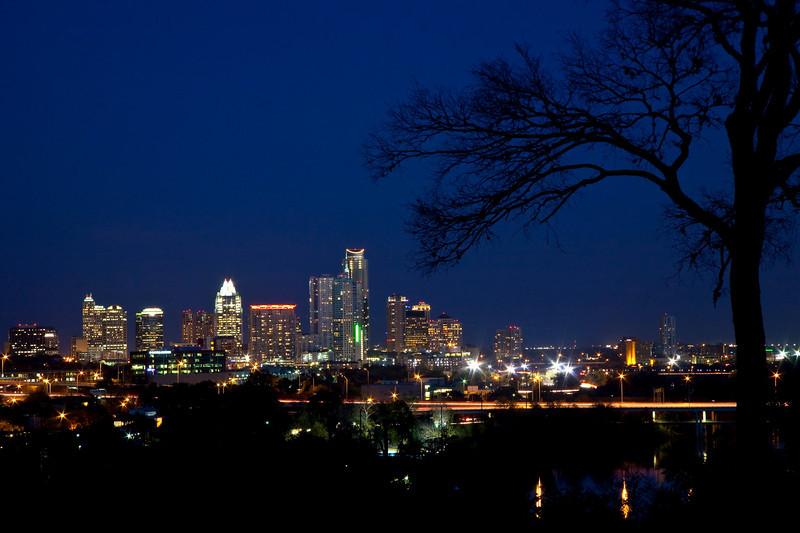 Austin Skyline from Stratford Dr.  Austin, Texas