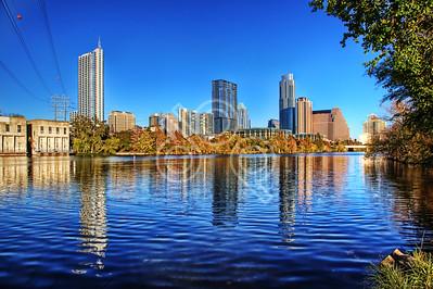Austin Skyline from Ladybird Lake