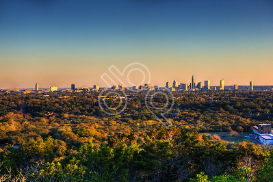Austin Skyline from Mount Bonnell - 11-30-2011