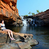 Claudi at Bell Gorge in the Northern Territory of Australia