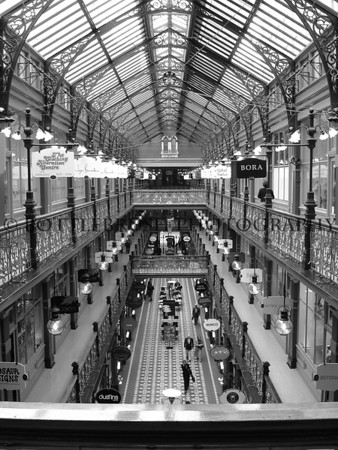 The Strand Arcade in B&W