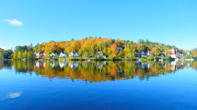 ##Lake Flower, in the village of Saranac Lake, NY, oct 8, 2019, 1022am  IMG_3612  IMG_3612