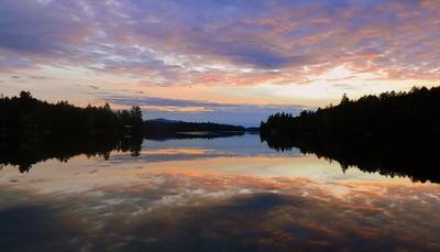 Sunset, Ampersand Bay, Lower Saranac Lake, dec 12, 2015, 428pm.
