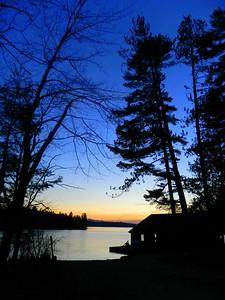 Sunset - Ampersand Bay, Lower Saranac Lake, 440pm, dec 9, 2015.