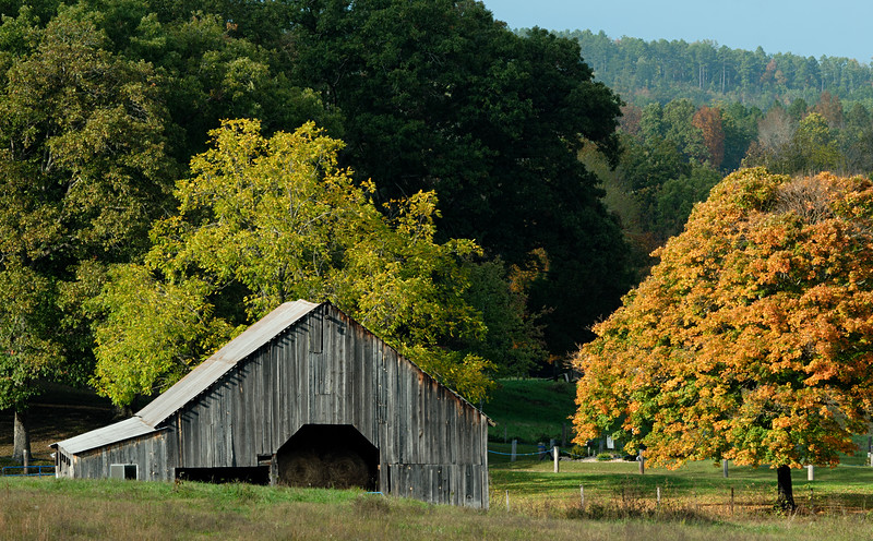 Barn in autumn.