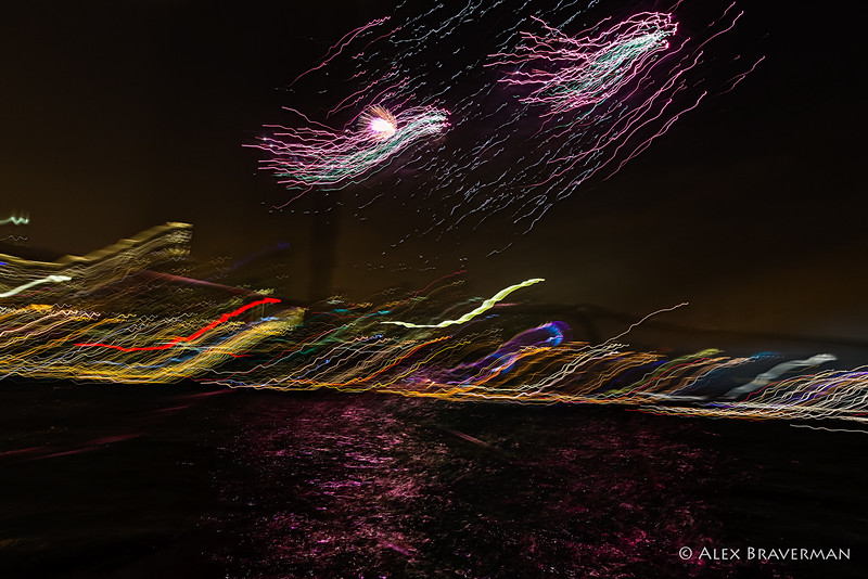 fireworks from a rocking boat #766