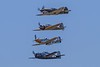 "Curtiss P-40C Tomahawk, Mitsubishi A6M3-22 Reisen (""Zero""), North American P-51D Mustang, Grumman F6F-5 Hellcat.<br /> Photo © Carl Clark"