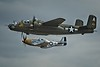 North American B-25J Mitchell and North American P-51D Mustang.<br /> © Cindy Clark