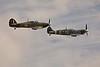 Hawker Hurricane Mk.XIIA and Supermarine Spitfire Mk.Vc.<br /> Photo © Carl Clark