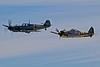 Messerschmitt Bf 109 E-3 and Focke-Wulf Fw 190 D-13.<br /> Photo © Carl Clark