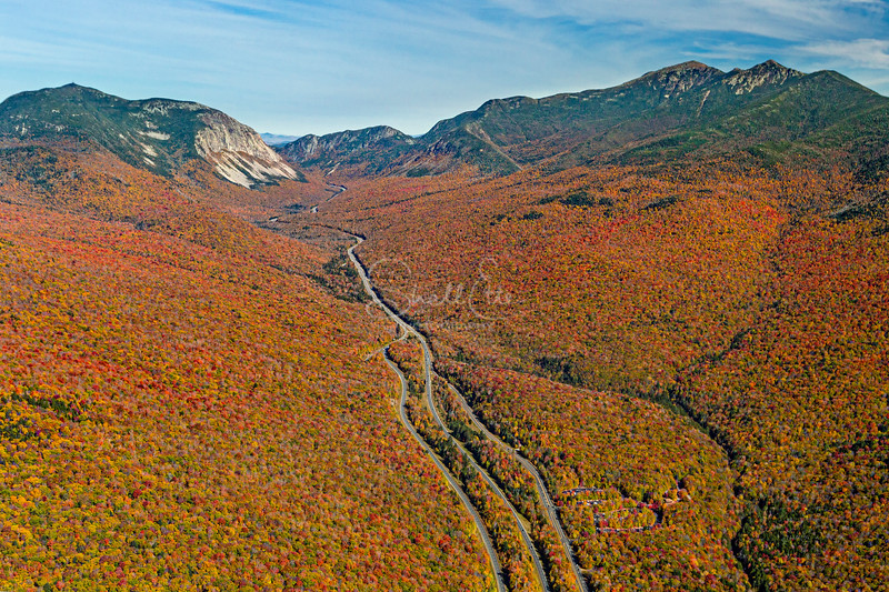 Franconia Notch State Park Mountains Autumn 2016