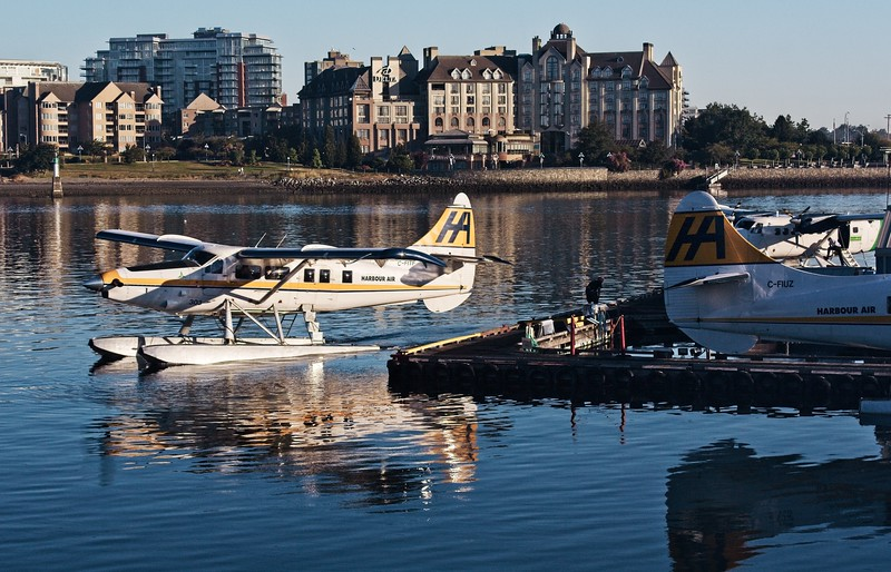 """The spelling of """"Harbour"""" should tip you off that this was taken in Victoria, B.C. DHC-3 de Havilland Turbine Single Otter.<br /> © Cindy Clark"""