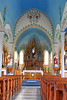 Dubina, Texas - One of the Painted Churches.  The colors in these churches are just amazing.