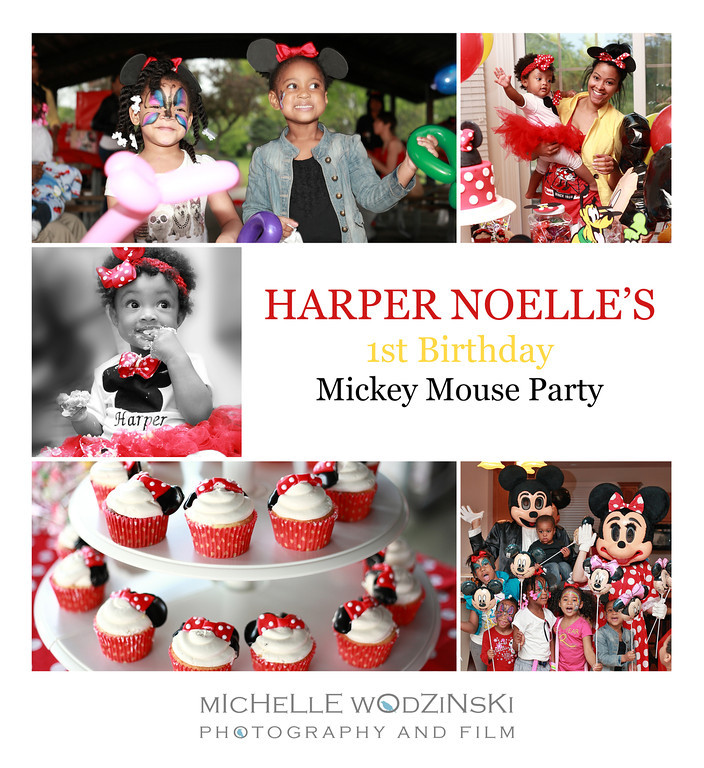 HARPER NOELLE<br /> <br /> 1st Birthday Mickey Mouse Party