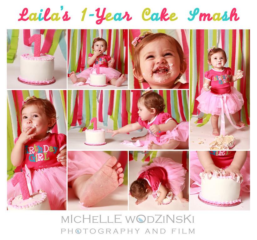 LAILA'S 1-YEAR CAKE SMASH