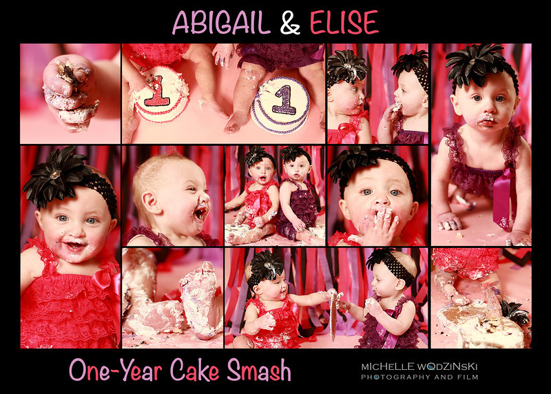 ABIGAIL & ELISE<br /> <br /> One-Year Cake Smash