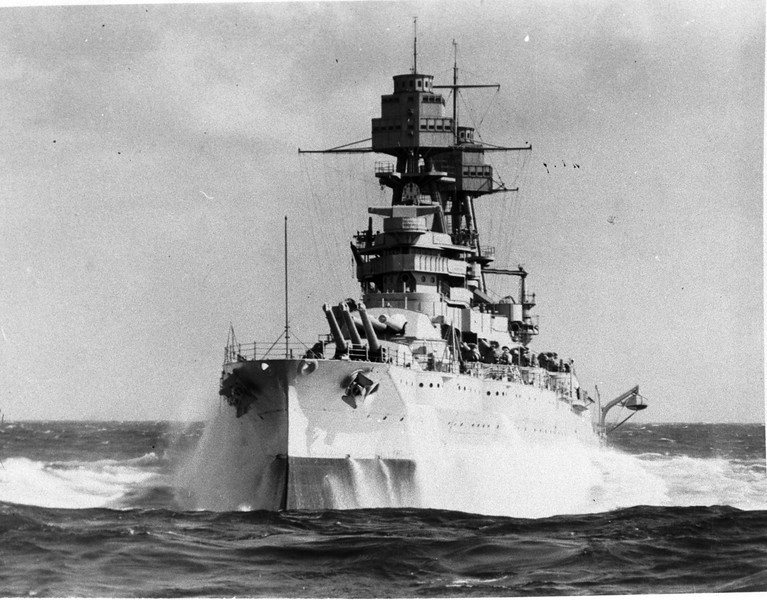 USS Arizona (BB-39)<br /> <br /> Date: Unknown<br /> Location: Unknown<br /> Source: William Clarke - National Archives