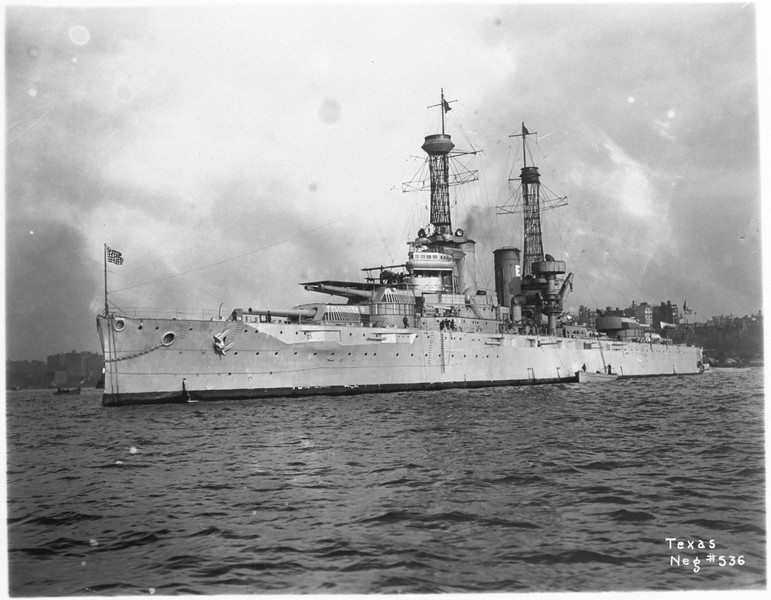 USS Texas (BB-35)<br /> <br /> Date: Unknown<br /> Location: Unknown<br /> Source: William Clarke - National Archives