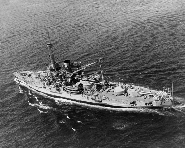 USS Utah (BB-31)<br /> <br /> Date: February 1929<br /> Location: Unknown<br /> Source: William Clarke - National Archives