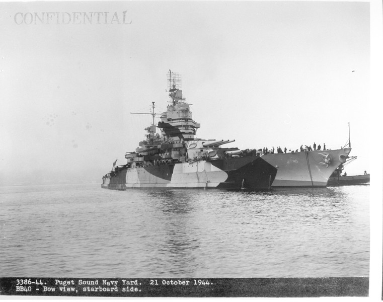 USS New Mexico (BB-40)<br /> <br /> Date: Ocotber 21 1944<br /> Location: Unknown<br /> Source: William Clarke - National Archives