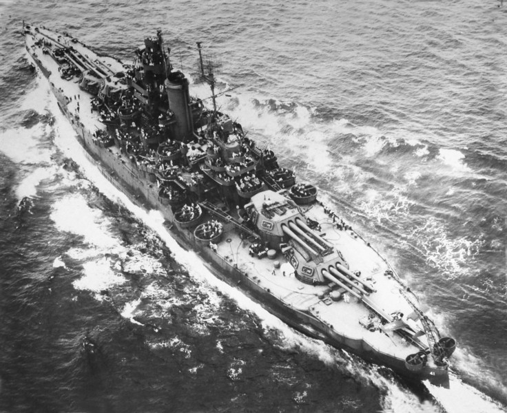 USS Mississippi (BB-41)<br /> <br /> Date: Unknown<br /> Location: Unknown<br /> Source: William Clarke - National Archives