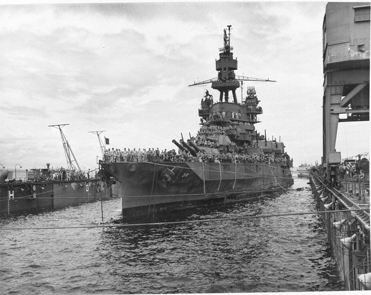 USS Pennsylvania (BB-38)<br /> <br /> Date: Unknown <br /> Location: Unknown<br /> Source: William Clarke - National Archives