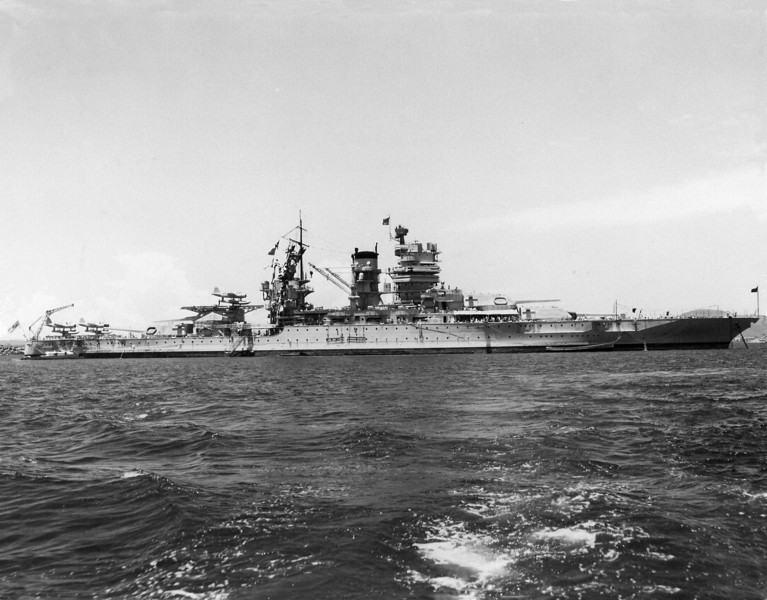 USS Mississippi (BB-41)<br /> <br /> Date: June 1941<br /> Location: Unknown<br /> Source: William Clarke - National Archives
